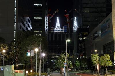 品川シーズンテラスのクリスマスツリー