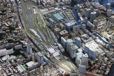 品川駅周辺の模型