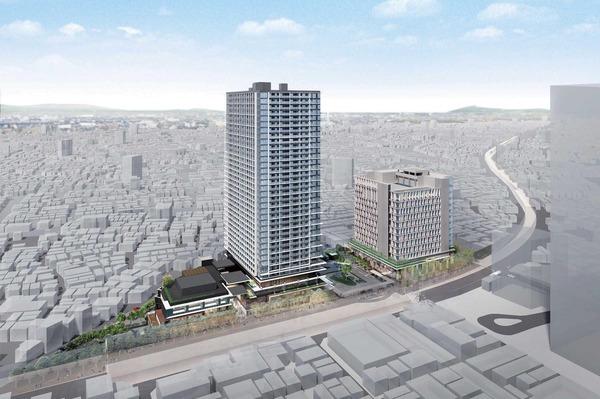 立石駅北口地区第一種市街地再開発事業 建物完成予想図