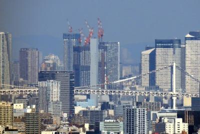 横浜ランドマークタワーから見たドゥ・トゥール(DEUX TOURS)