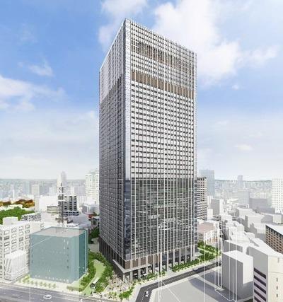 (仮称)赤坂二丁目プロジェクト 建物外観イメージ