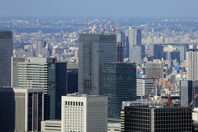 六本木ヒルズから見た(仮称)日本橋二丁目地区北地区新築工事