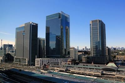 大丸東京店から丸の内方面の眺め