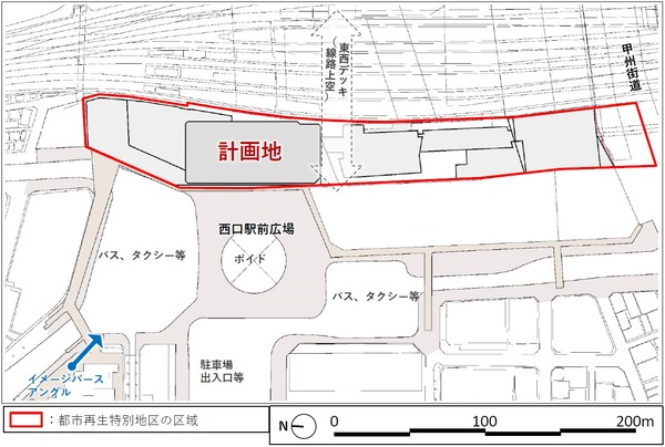 (仮称)新宿駅西口地区開発計画 配置図
