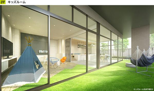 パークシティ柏の葉キャンパス サウスマークタワー キッズルーム完成予想CG