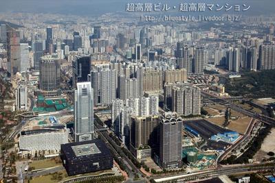 広州タワー(Canton Tower)から広州市街の眺め