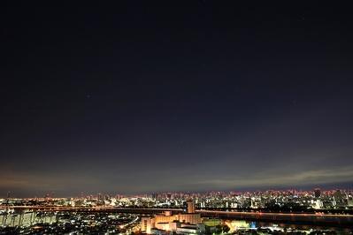 星空と東京夜景