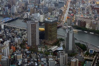 東京スカイツリーの展望台から見たリバーピア吾妻橋