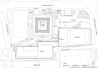 (仮称)渋谷区役所建替プロジェクト 配置図