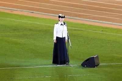 国立競技場ファイナル 三宅由佳莉の国家独唱