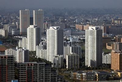 新浦安のタワーマンションの空撮