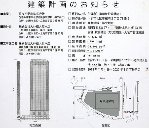 (仮称)大阪梅田計画 建築計画のお知らせ