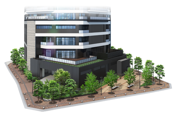 プラウドタワー東池袋ステーションアリーナ 外観完成予想図