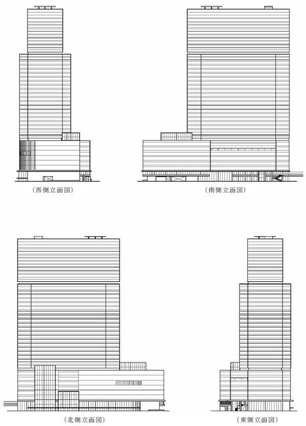 梅田3丁目計画(仮称) 立面図