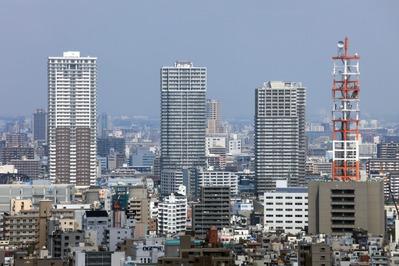 アサヒビールタワーから南千住方面の眺め