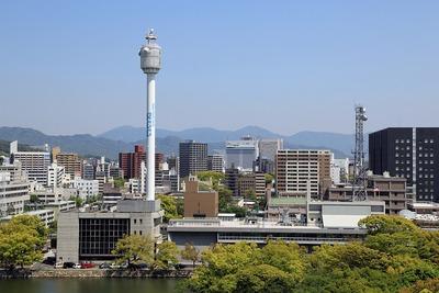 広島城から見た広島駅方面