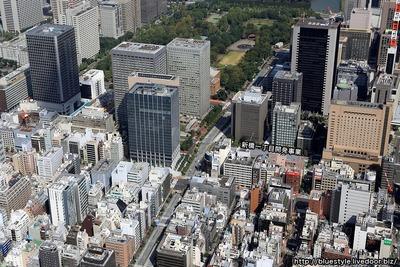 新橋一丁目開発事業の建設地の空撮
