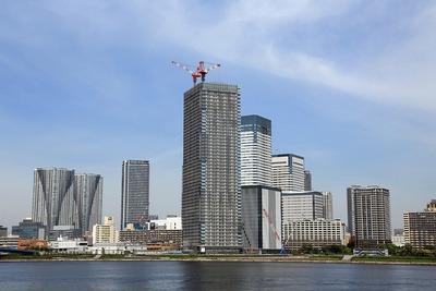 晴海方面の超高層ビル群