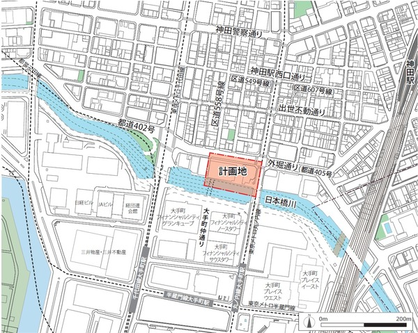 内神田一丁目地区第一種市街地再開発事業 位置図