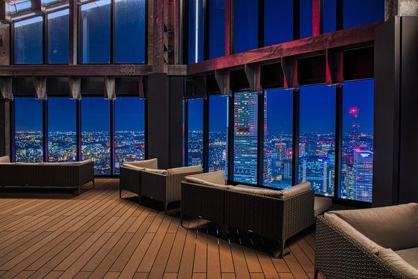 ザ・タワー 横浜北仲の屋上スカイテラス