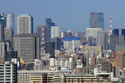 自宅マンションから見た東京の超高層ビル群