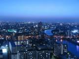 夜景-隅田川