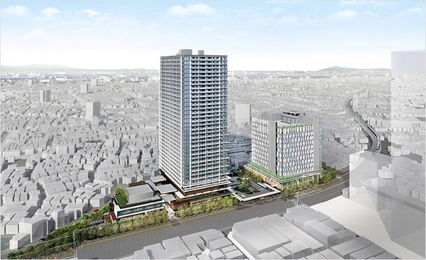 立石駅北口地区第一種市街地再開発事業 建物外観イメージ図