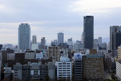大阪城からの眺め