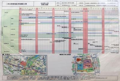 四谷駅前地区第一種市街地再開発事業 月間工程表