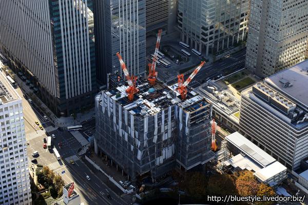 東京駅前常盤橋プロジェクトの空撮
