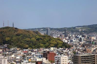 静岡県庁別館から東静岡駅方面