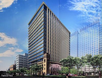 (仮称)神田錦町三丁目共同建替計画の完成予想図