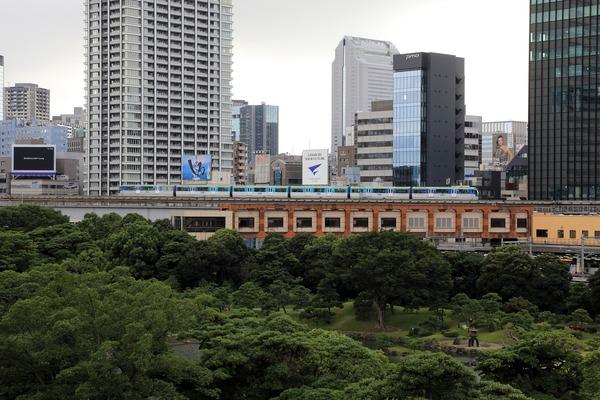 東京ポートシティ竹芝 ペデストリアンデッキからの眺め