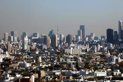 練馬区役所から見た東京の超高層ビル群