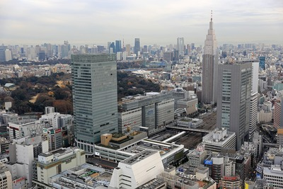 モード学園コクーンタワーからの眺め