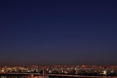 東京夜景とオリオン座