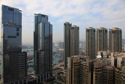 香港の凱旋門(The Arch)からの眺め