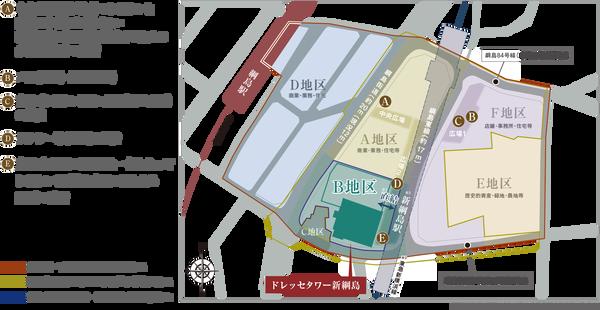 ドレッセタワー新綱島 位置図