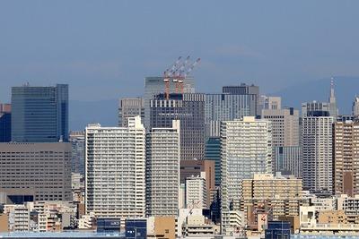 江戸川区から見た(仮称)日本橋二丁目地区北地区新築工事