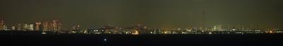 海ほたるから東京スカイツリー方面の夜景