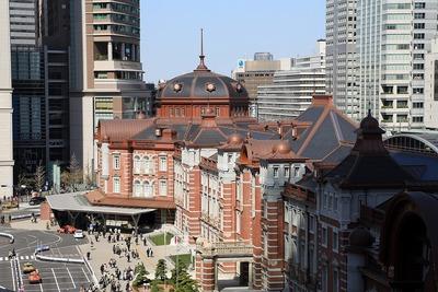 KITTE(キッテ)から見た東京駅丸の内駅舎