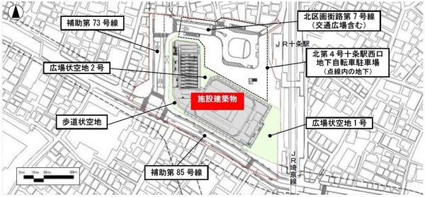 十条駅西口地区第一種市街地再開発事業 配置図