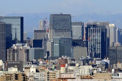 大手町方面の超高層ビル群