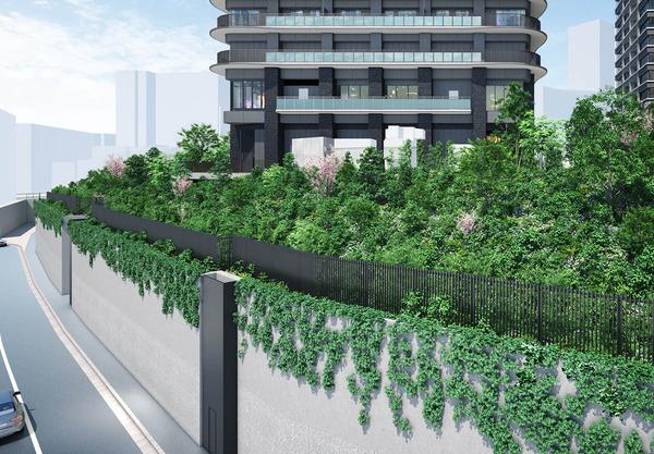 プラウドタワー目黒MARC リニアグリーン完成予想図