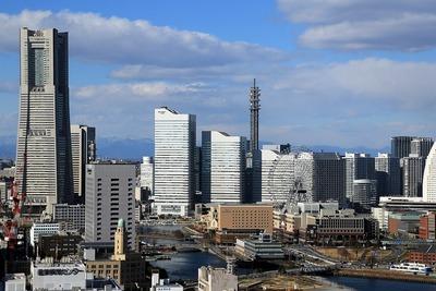 横浜マリンタワーから見たクイーンズスクエア横浜