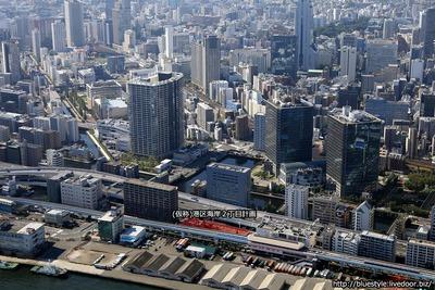 (仮称)港区海岸2丁目計画の建設地の空撮