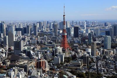 六本木ヒルズから東京タワー方面の眺め