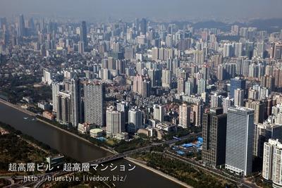 広州タワーからの眺め