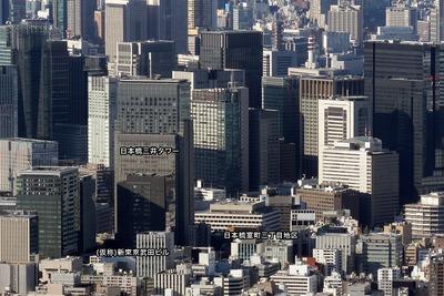 東京スカイツリーから見た日本橋方面