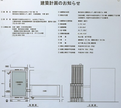 株式会社三菱東京UFJ銀行大阪ビル 本館 建築計画のお知らせ
